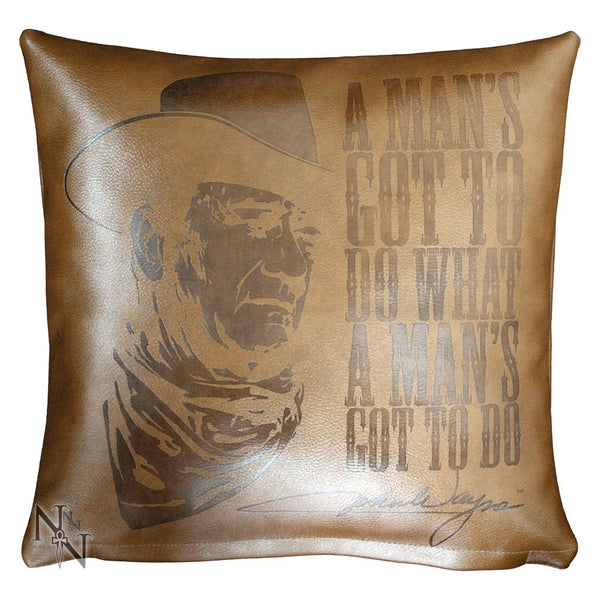 John Wayne Embossed Leather Cushion (AW63)