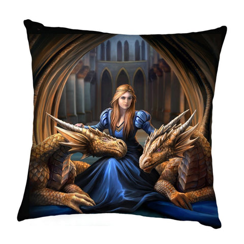 Fierce Loyalty Cushion - Anne Stokes (AW203)