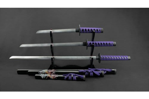 Purple Samurai Set of 3 (AW1281)