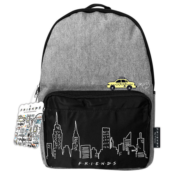 Friends Denim Taxi Design Backpack