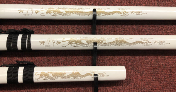 Golden Dragon (White) Samurai Sword (AW540)