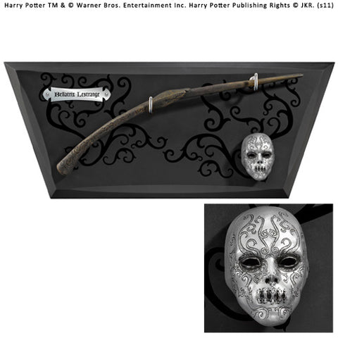 Bellatrix Wand Wall Display & Mini Mask (AW1115)