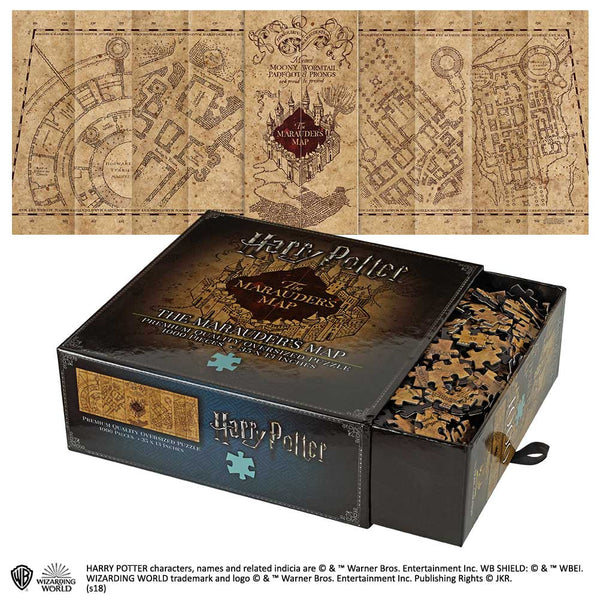 Marauder's Map 1000 Piece Puzzle Harry Potter