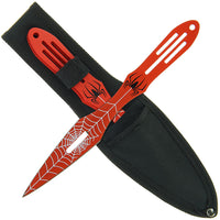 Spider Red (Set of 3) Throwing Knives (AW969)