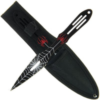 Spider Black (Set of 3) Throwing Knives (AW968)