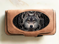 Night Forest Wolf Suede 3D Purse - Anne Stokes (AW741)