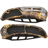Rubber Grip Camo Lock Knife (AW1107)