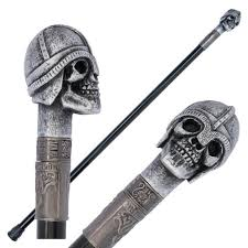 Viking Warrior Skull Cane