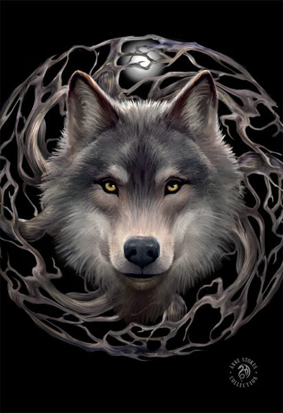 Night Forest Wolf 3D Postcard - Anne Stokes (AW798)