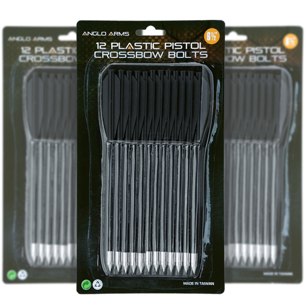 Crossbow Plastic Bolts - Pack of 12