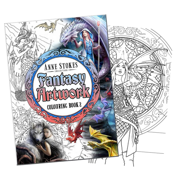 Anne Stokes Fantasy (SIGNED) Colouring Book 2 (AW979)