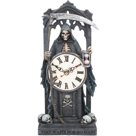 Time Waits For No Man Clock - Anne Stokes (AW850)