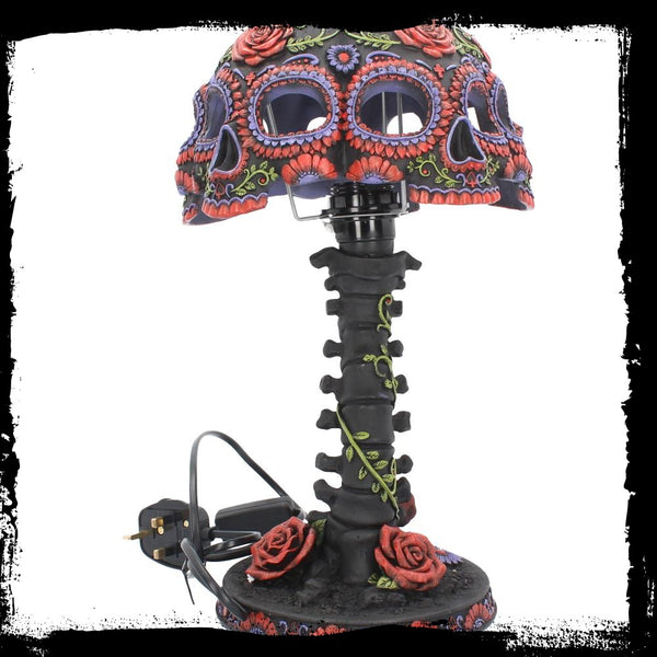 Night Blooms Skull Lamp (AW738)