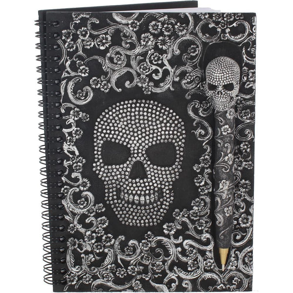 Baroque Skull Book & Pen