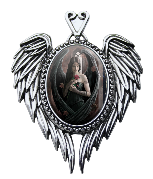 Angel Rose Cameo Pendent - Anne Stokes (AW711)