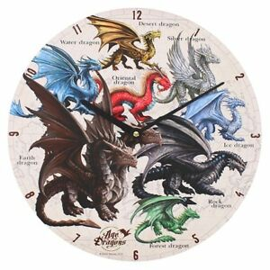 Dragons of the World Clock (Age of Dragons) Anne Stokes (AW856)