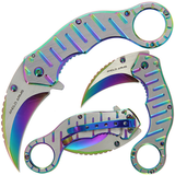 Rainbow Karambit Lock Knife (AW1285)
