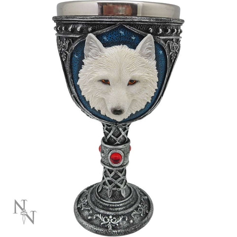 Ghost Wolf White (Large) Goblet (AW918)