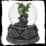 Enchanted Emerald Snow Globe Dragon (AW409)