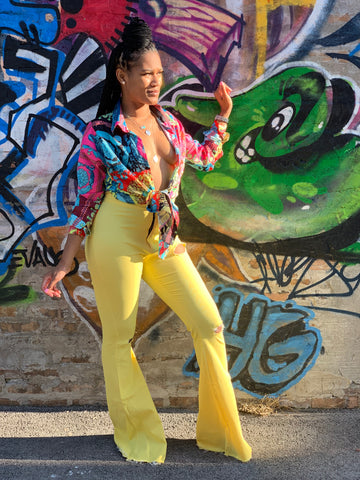 Flare Pants (Yellow)