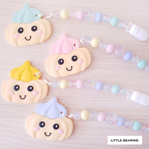 Little Bearnie Modern Baby Teether Clip Set - Gem Biscuit