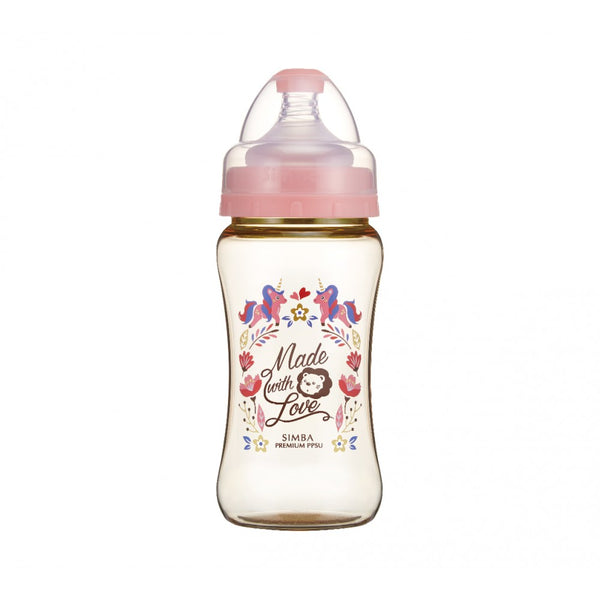 270ml Dorothy Wonderland PPSU Wide Neck Feeding Bottle (Unicorn)