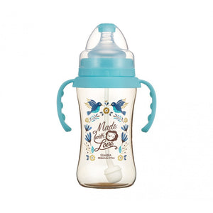 270ml Dorothy Wonderland PPSU Wide Neck Feeding Bottle With Auto Straw And Handle (Hummerbird)