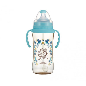 360ml Dorothy Wonderland PPSU Wide Neck Feeding Bottle With Auto Straw And Handle (Hummerbird)