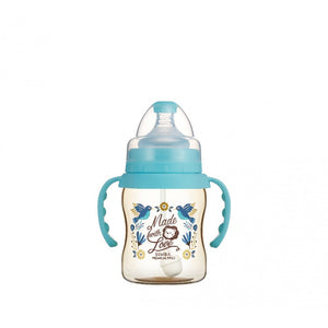 200ml Dorothy Wonderland PPSU Wide Neck Feeding Bottle With Auto Straw And Handle (Hummerbird)