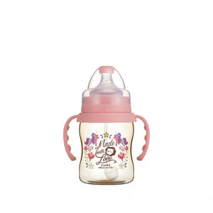 200ml Dorothy Wonderland PPSU Wide Neck Feeding Bottle With Auto Straw And Handle (Unicorn)