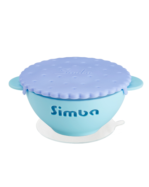 Its Yummy Cookie Silicone Suction Bowl - Blueberry