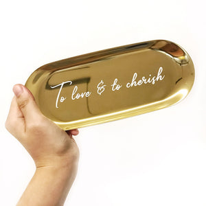 Luxe Gold Stainless Steel Tray
