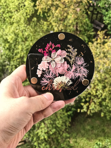 Acrylic Floral Coaster [Exclusively Handmade by MDV]