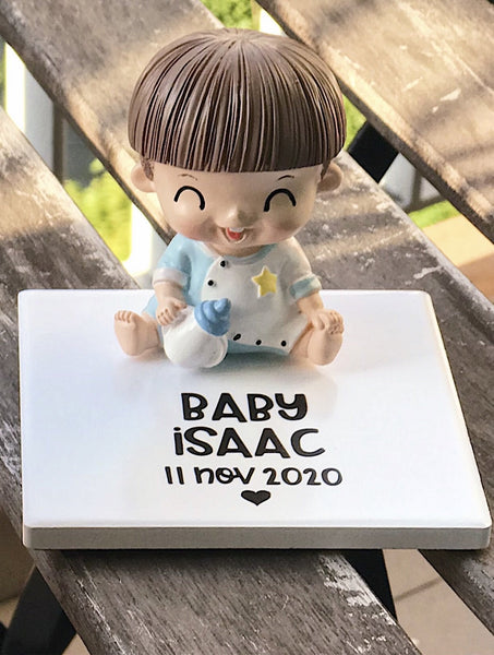 Baby Boy with Milk Bottle (Sitting) Deco Display