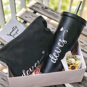 [BUNDLE] : Bubble Tea Tumbler + Canvas Pouch