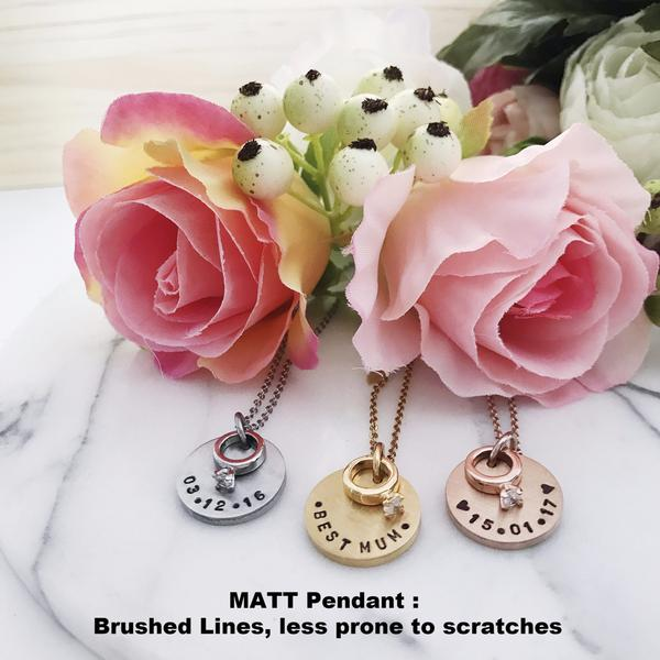 Wedding Ring Charm Necklace
