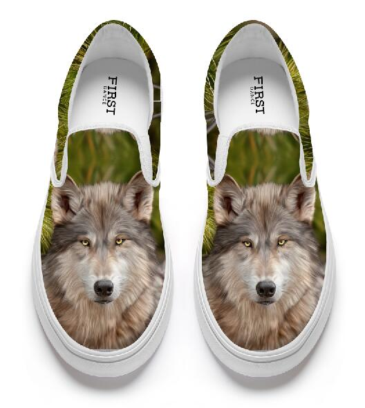 Wolf Canvas Shoes