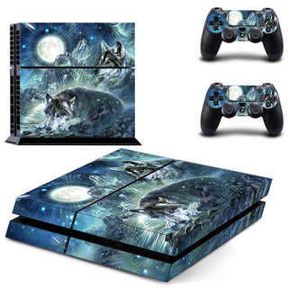 Moonlight Wolf Sticker For PS4