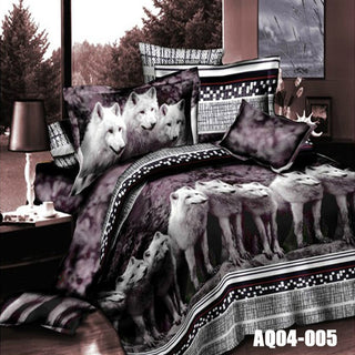 3D  Wolf Bedding Sets