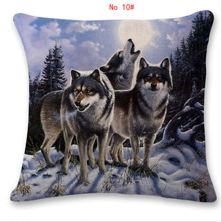 Wolf Cotton Pillow Case