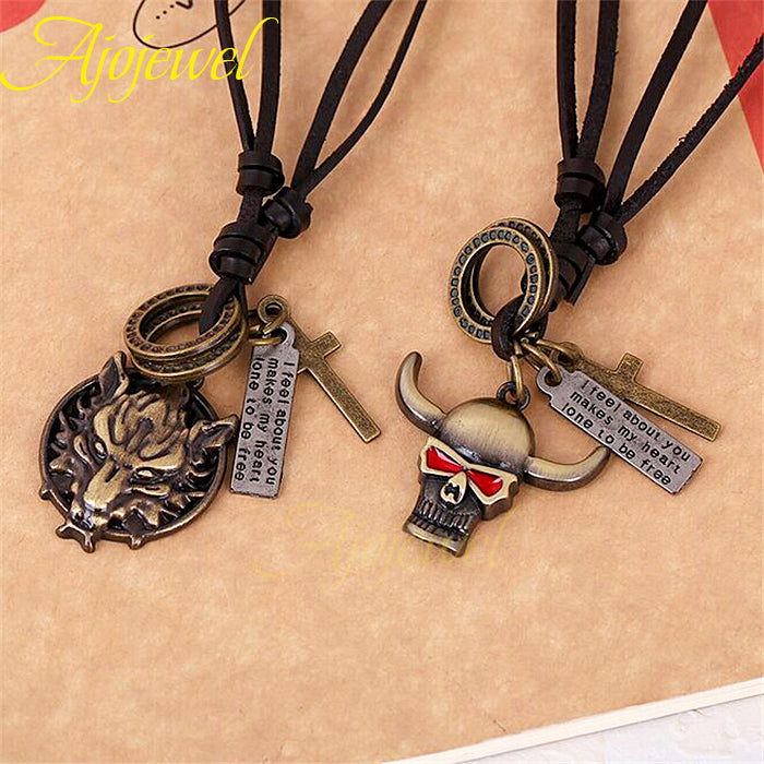 Animal Leather Necklaces