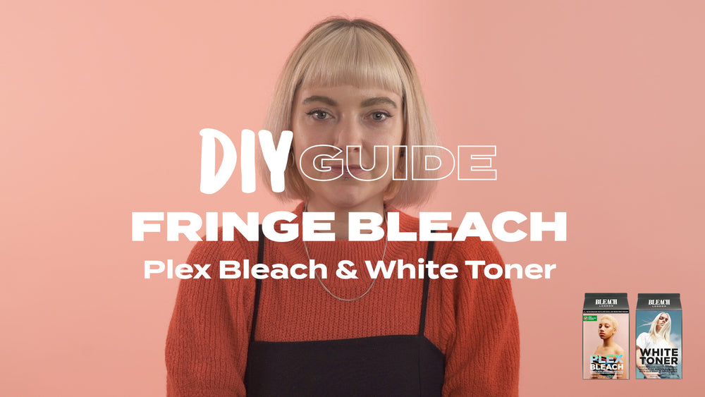 DIY Guide: Fringe Bleach with Plex Bleach & White Toner