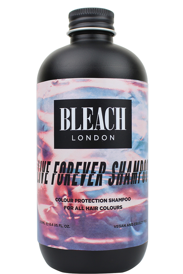 Bottle of Bleach London Live Forever Shampoo