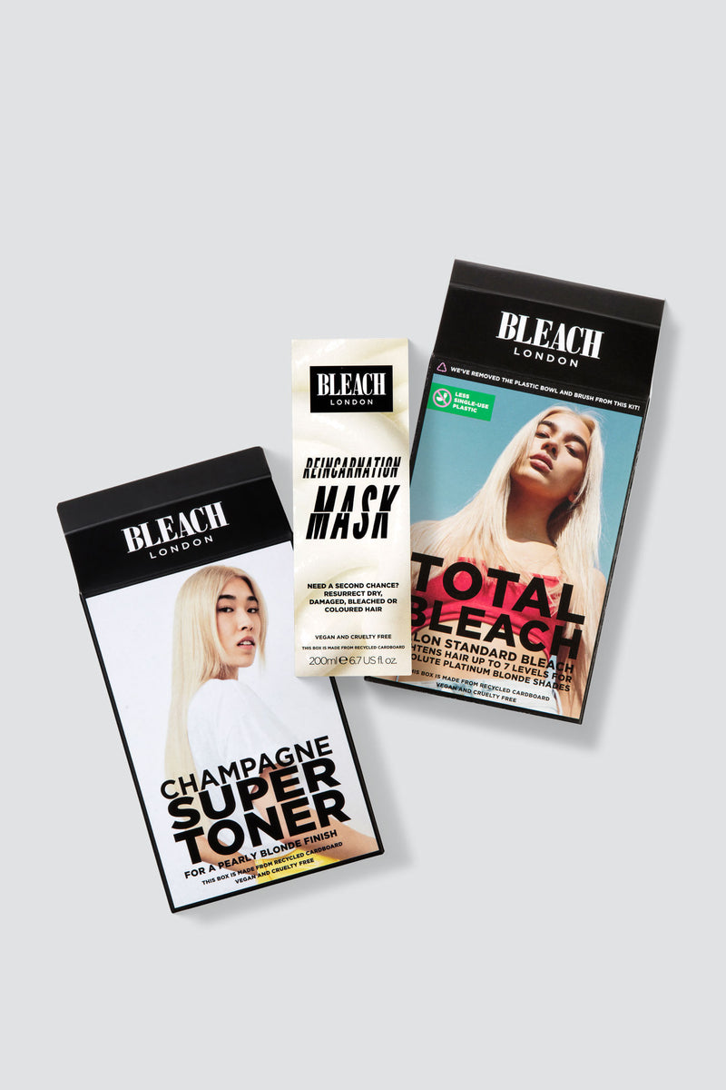 Nude Blonde Care Bundle with Total Bleach