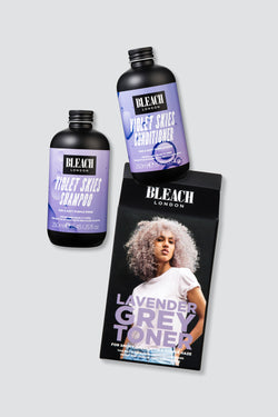 Violet Skies Shampoo and Conditioner Duo with Lavender Grey Toner