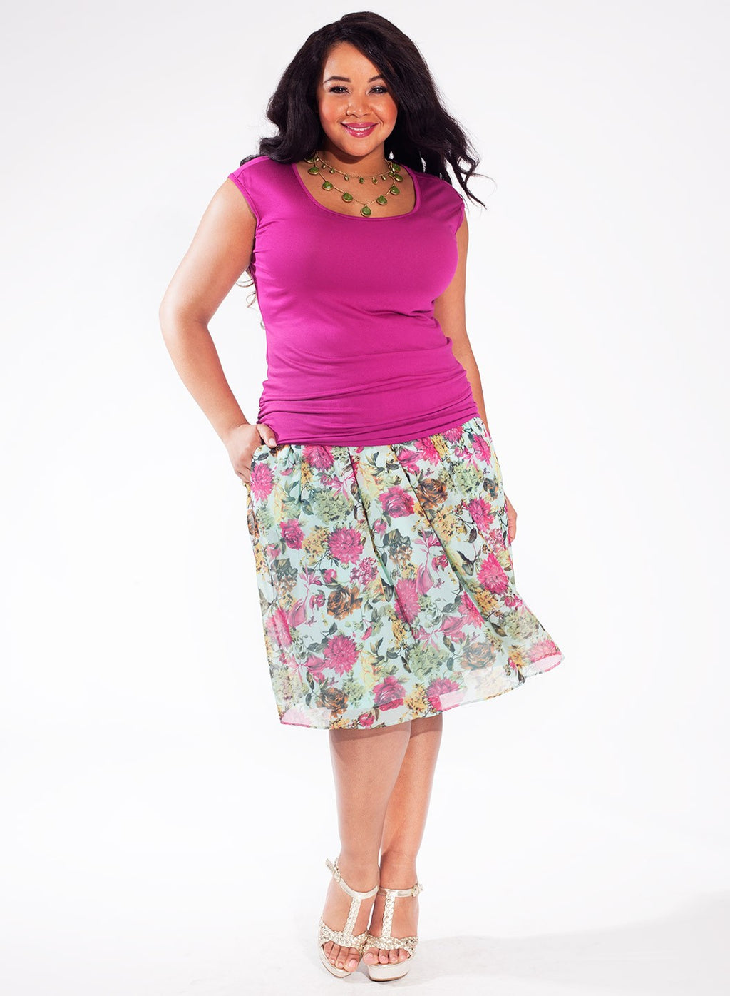 plus-size-top-magenta
