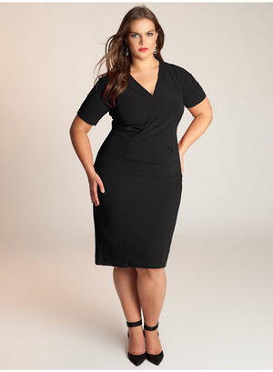 plus-size-dress-for-work-black