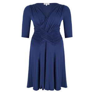 plus size cocktail dress blue