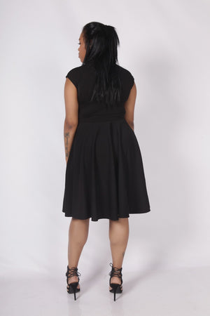 plus-size-a-line-dress-black