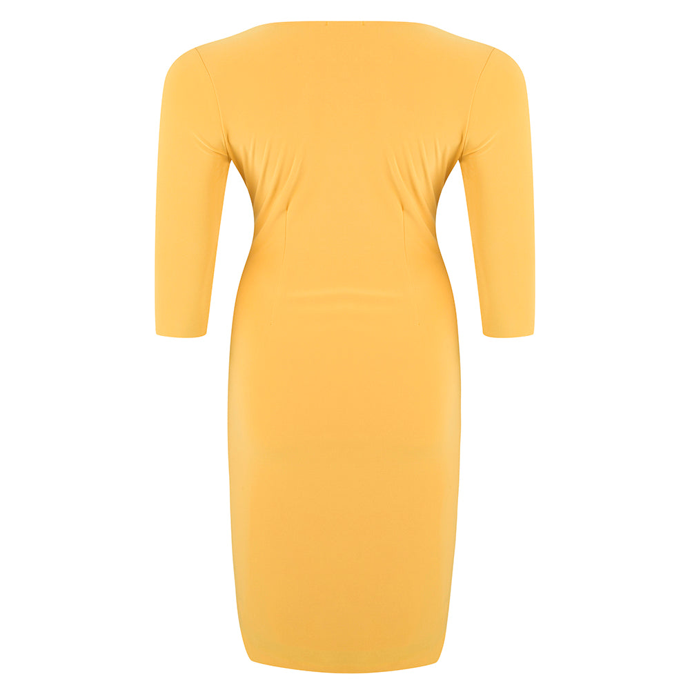 plus-size-cocktail-dress-yellow
